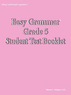 Go to Easy Grammar 6 Student Test Booklet