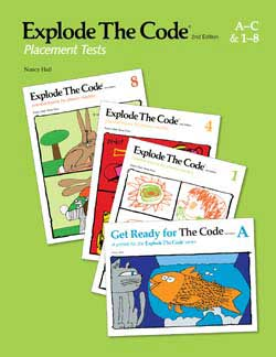 Explode the Code Placement Tests for Books A-C and 1-8 2nd Edition 9780838878255