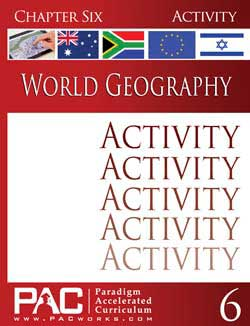Paradigm World Geography Activity Booklet Set by Pac Works