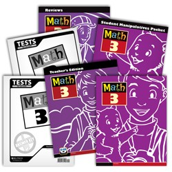 BJU Press Math 3 Homeschool Kit