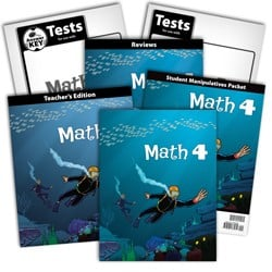 BJU Press Math 4 Kit