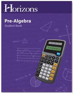 Go to Horizons Pre-Algebra by Alpha Omega Publications