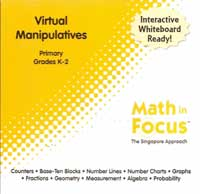 Math in Focus Singapore Approach Virtual Manipulatives for Primary Grades K-2.