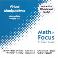 Math in Focus Singapore Approach Virtual Manipulatives for Grades 3-5.