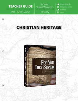 Teacher Guide for Christian Heritage 9780890519684 by Master Books