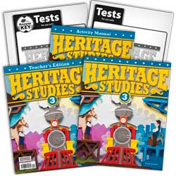 BJU Press Heritage Studies 3 Kit