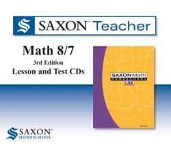 Saxon Teacher Math 8/7 Digital or CDs.