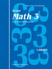 Saxon Homeschool Math 3 Meeting Book 9781565770249 Publisher: Saxon Homeschool, Houghton Mifflin Harcourt
