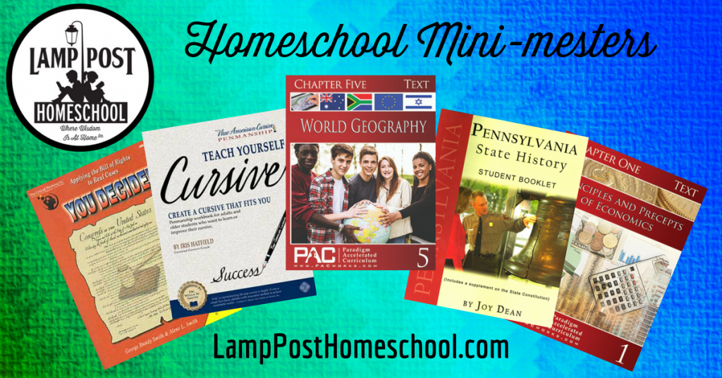 Learn More About Homeschool Mini-Mesters at LampPostHomeschool.com