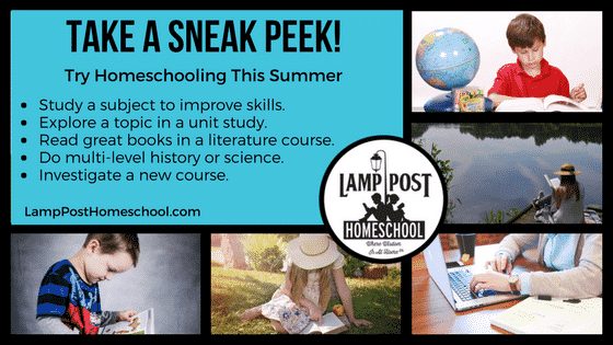 Take a Sneak Peek! Try homeschooling this summer.