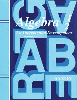 Go to Saxon Algebra 1/2 Solutions Manual 9781565771314