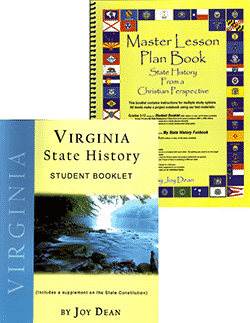 Go to Virginia State History From A Christian Perspective Set by Joy Dean, Publisher: A Helping Hand