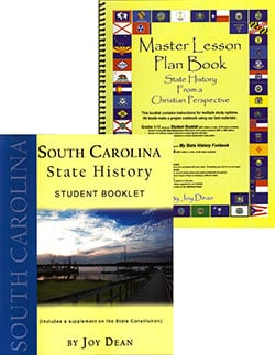 Go to South Carolina State History From A Christian Perspective Set by Joy Dean, Publisher: A Helping Hand