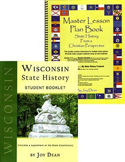Wisconsin State History From A Christian Perspective Set.