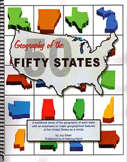 Geography of the Fifty States by Joy Dean, Publisher: A Helping Hand