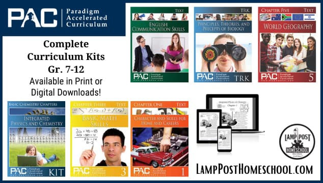 Paradigm Complete Homeschool Curriculum Kits.