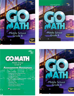 Go to Go Math! Grade 8 Components by Houghton Mifflin Harcourt