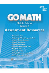 Go to Go Math! Grade 7 Assessment Resource with Answers