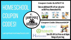 Get the latest Homeschool #CouponCodes at LampPostHomeschool.com and save on homeschool curriculum.