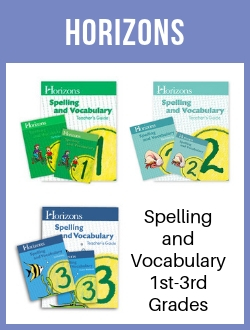 Horizons Spelling and Vocabulary 1-3