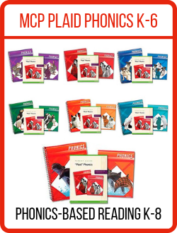MCP Plaid Phonics Homeschool Packages.