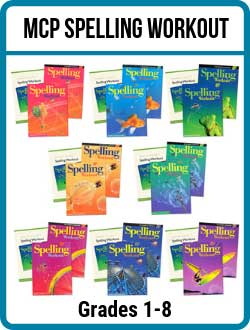 MCP Spelling Workout Homeschool Kits 1-8.