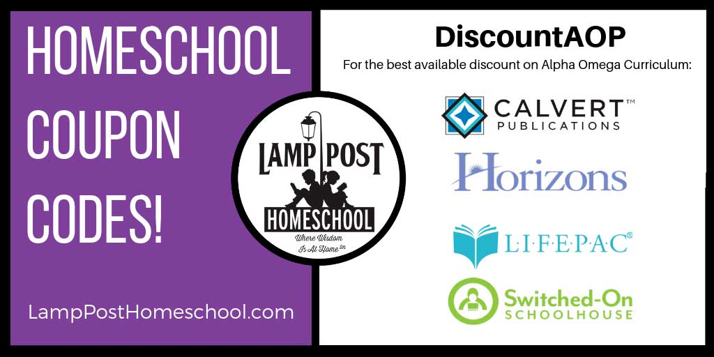 Homeschool Coupon Codes - Lamp Post Homeschool