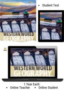 HMH Western World Geography Homeschool Package.