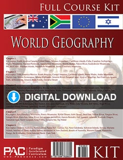 Go to Digital Download: Paradigm World Geography Kit, Publisher: Paradigm Accelerated Curriculum (PACWORKS)