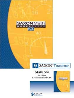 Saxon Math 5/4 Homeschool Kit and Teacher Lesson &  Test CDs Bundle