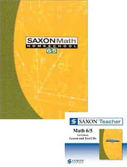 Go to Saxon Math 6/5 Homeschool Kit and Teacher Lesson &  Test CDs Bundle 3rd Edition